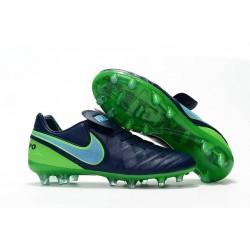 Neuf 2016 Nike Tiempo Legend 6 FG Crampons Football Homme Noir Vert