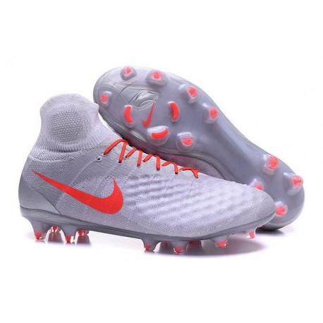 Crampons de Foot Nouvelles Nike Magista Obra II FG Blanc Orange