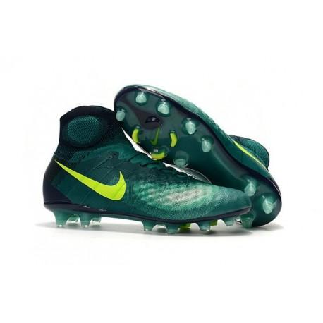 Crampons de Foot Nouvelles Nike Magista Obra II FG Vert Jaune