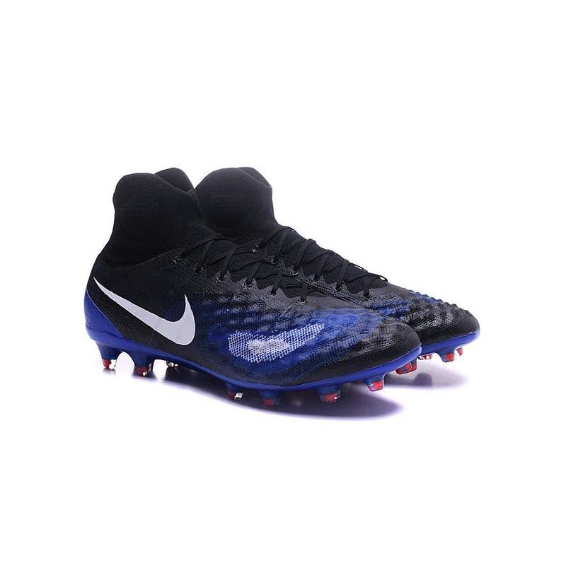 size 40 10902 f2bdb Crampons de Foot Nouvelles Nike Magista Obra II FG Noir Violet Zoom.  Précédent. Suivant