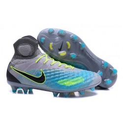 Crampons de Foot Nouvelles Nike Magista Obra II FG Gris Bleu Noir