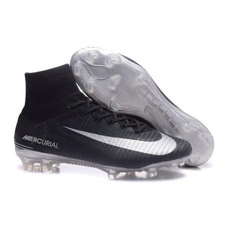 589787729 Meilleur Chaussure de Foot Nike Mercurial Superfly 5 FG Noir Argent