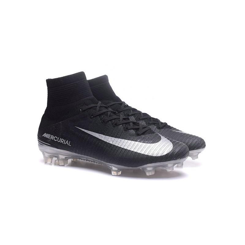 premium selection 718bd d14a1 Meilleur Chaussure de Foot Nike Mercurial Superfly 5 FG Noir Argent Zoom.  Précédent. Suivant