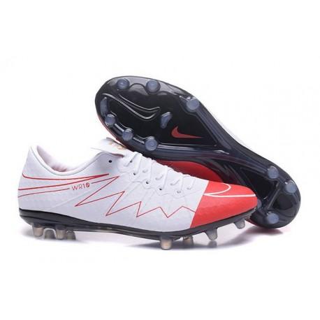 Nike Hypervenom Phinish FG Nouvelles Crampons Football Wayne Rooney Blanc Rouge