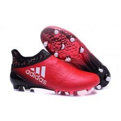 Chaussures de Foot adidas X 16+ Purechaos FG Techfit Rouge Noir