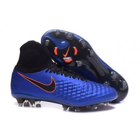 Crampons de Foot Nouvelles Nike Magista Obra II FG Bleu Noir