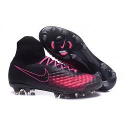 Nike Magista Obra II FG Chaussure Football Homme Noir Rose