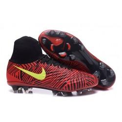 Nike Magista Obra II FG Chaussure Football Homme Rouge Noir Jaune