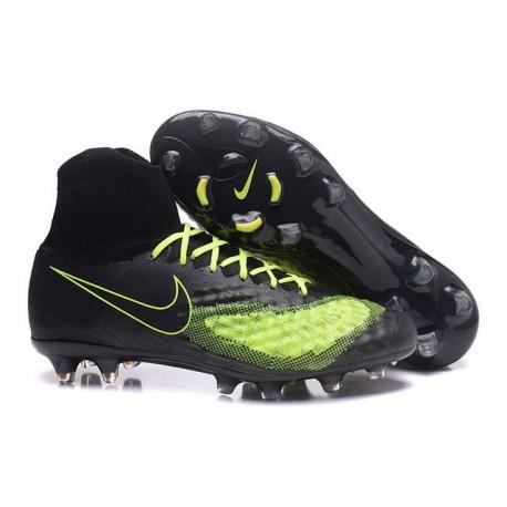Nike Magista Obra II FG Chaussure Football Homme Noir Jaune
