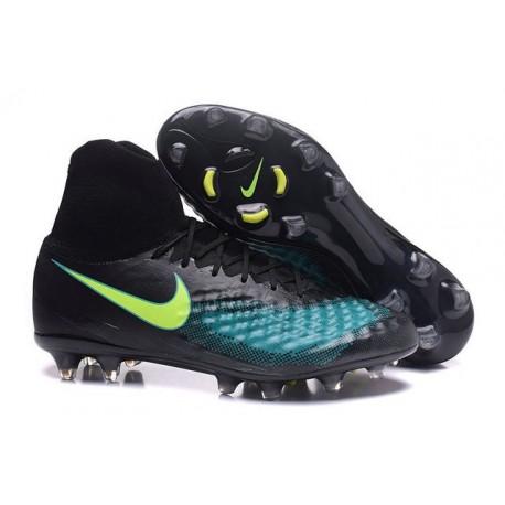 Nike Magista Obra II FG Chaussure Football Homme Noir Bleu