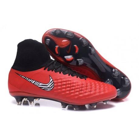 Nike Magista Obra II FG Chaussure Football Homme Rouge Blanc