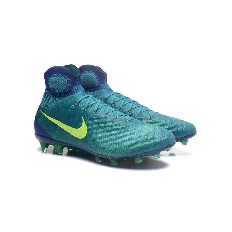 brand new f0bb9 d94a2 Nike Magista Obra II FG Chaussure Football Homme Vert Jaune Zoom.  Précédent. Suivant