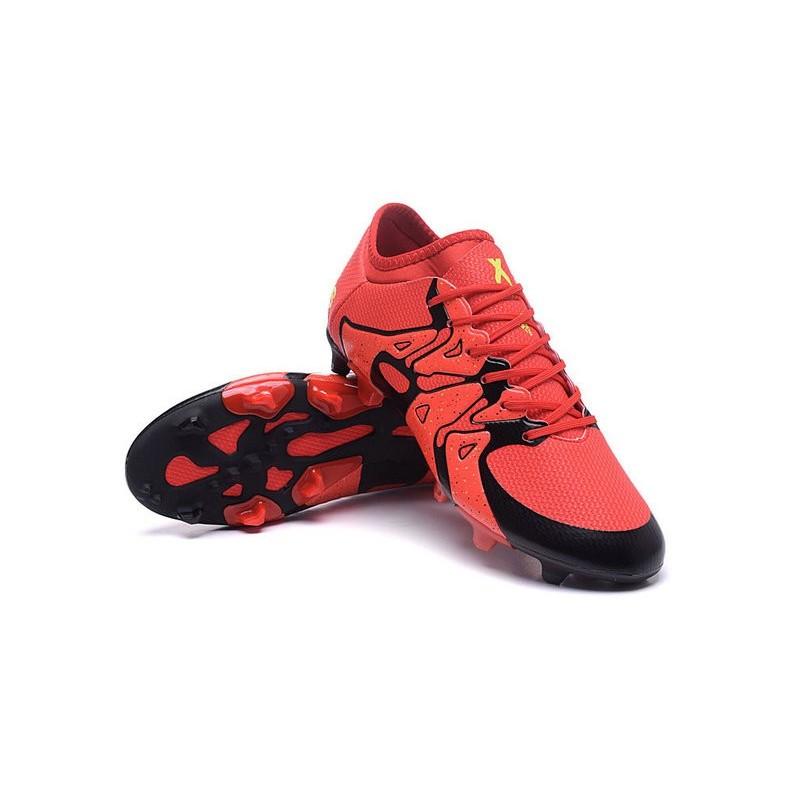 adidas crampons de football x 15 1 fg ag rouge noir. Black Bedroom Furniture Sets. Home Design Ideas