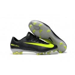 Nike Mercurial Vapor 11 FG Nouveaux Crampons de Foot Noir Jaune