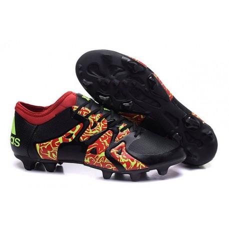 Chaussure Nouveau adidas X 15.1 FG/AG Noir Rouge