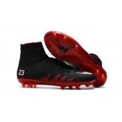 Chaussure Neymar Jordan Nike Hypervenom Phantom 2 FG Noir Rouge