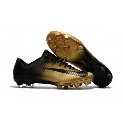 Nike Mercurial Vapor 11 FG Nouveaux Crampons de Foot Noir Or