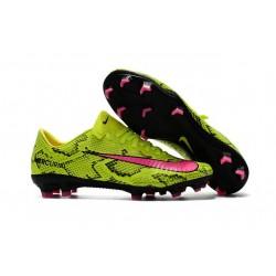 Nike Mercurial Vapor 11 FG Nouveaux Crampons de Foot Jaune Rose