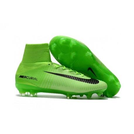 new photos 0693f 76f4a Nike Chaussure de Foot Meilleur Mercurial Superfly 5 FG ACC Vert Noir