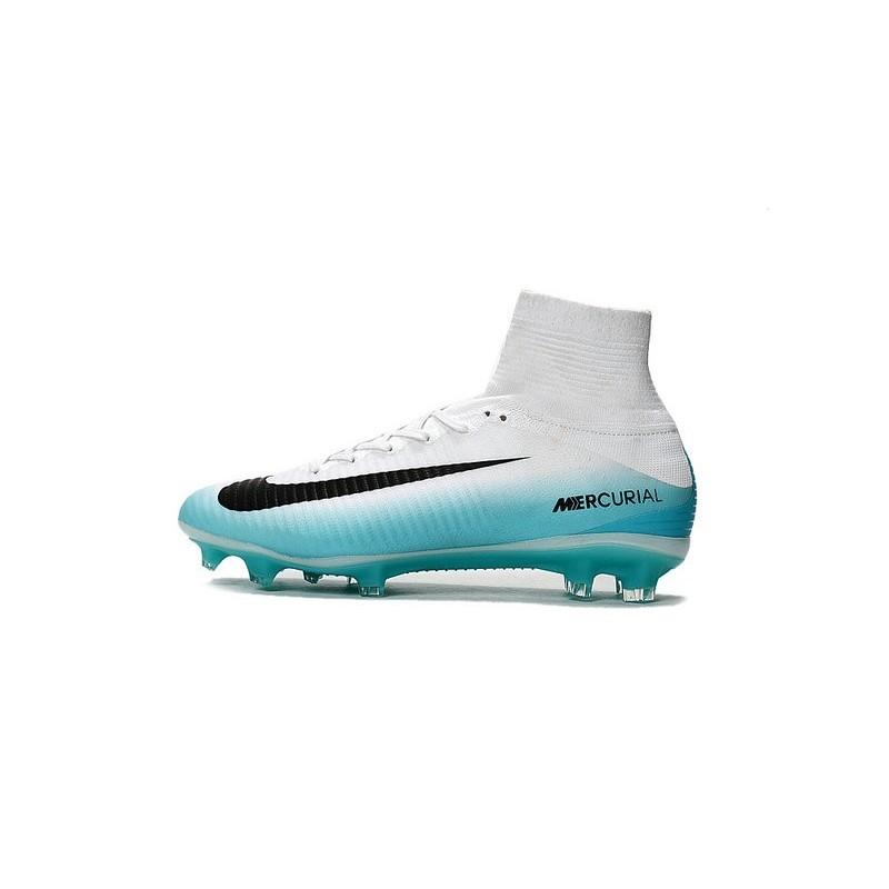 on sale 78985 f8f82 Nike Chaussure de Foot Meilleur Mercurial Superfly 5 FG ACC Blanc Bleu Noir  Zoom. Précédent. Suivant