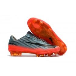 Nike Mercurial Vapor 11 FG Nouveaux Crampons de Foot Gris Orange