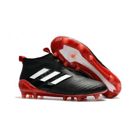 adidas Ace17+ Purecontrol FG Chaussures de Football Noir Blanc Rouge