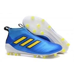 Crampon de Foot Nouveaux adidas Ace17+ Purecontrol FG - Bleu Jaune