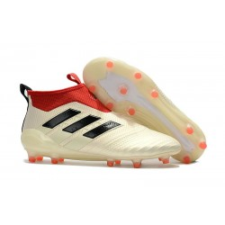 adidas Ace17+ Purecontrol Champagne FG Chaussures 2017 Homme Bianco Rosso Nero