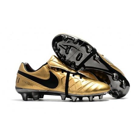 Nike Crampons de Foot Tiempo Totti X Roma Or