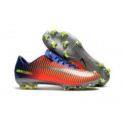 Nike Mercurial Vapor XI FG Neuf Chaussure Football Bleu Carmin Chrome