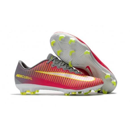 Nike Mercurial Vapor XI FG Neuf Chaussure Football Rose Gris Blanc