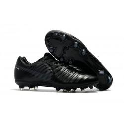 Nike Crampons de Foot Tiempo Legend 7 FG Cuir - Tout Noir