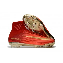 Nike Mercurial Superfly V FG Nouvel 2017 Crampons de Football Rouge Or