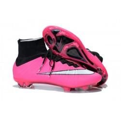 Nouvelle Ronaldo Chaussure Foot Nike Mercurial Superfly FG Rose Blanc Noir