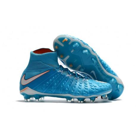 c5d6ebdfe42f26 Chaussure Football Nouveaux Nike Hypervenom Phantom 3 DF FG - Bleu Blanc