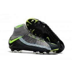 Chaussure Football Nouveaux Nike Hypervenom Phantom 3 DF FG - Gris Noir Vert