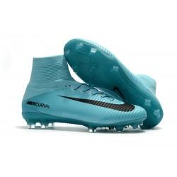 Nike Chaussure Foot Neuf Mercurial Superfly 5 FG ACC Bleu Noir
