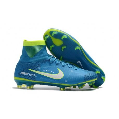Nike Chaussure Foot Neymar Mercurial Superfly 5 FG ACC Bleu