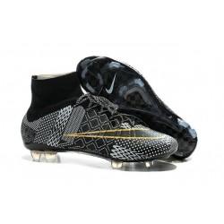 Crampons de Football Nike Mercurial Superfly FG ACC BHM Noir Or Blanc