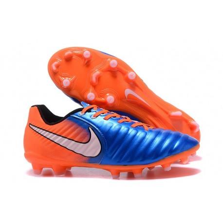Chaussure Football Nouvelles Nike Tiempo Legend VII FG - Bleu Orange