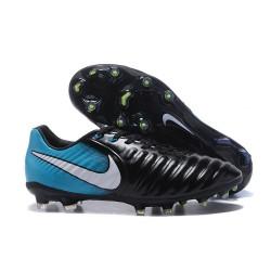 Chaussure Football Nouvelles Nike Tiempo Legend VII FG - Noir Bleu