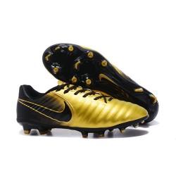 Chaussure Football Nouvelles Nike Tiempo Legend VII FG - Or Noir