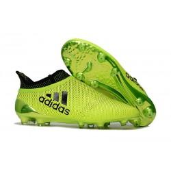 adidas Crampons de Football X17+ Purespeed FG - Vert