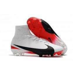 Nike Chaussure Foot Neuf Mercurial Superfly 5 FG ACC Blanc Rouge Noir
