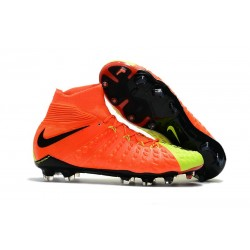 Crampons Nike Hypervenom Phantom III Dynamic Fit FG - Orange Jaune
