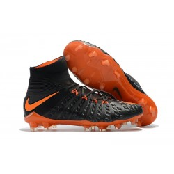 Crampons Nike Hypervenom Phantom III Dynamic Fit FG - Noir Orange