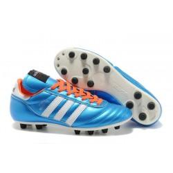 Chaussures de Football adidas Copa Mundial FG Cuir de Kangourou Bleu