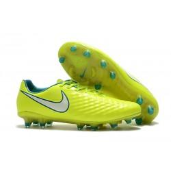 Nike Magista Opus II FG Crampon de Foot - Jaune Blanc