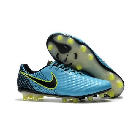 Nike Magista Opus II FG Crampon de Foot - Bleu Noir