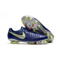 Nike Magista Opus II FG Crampon de Foot - Bleu Argent